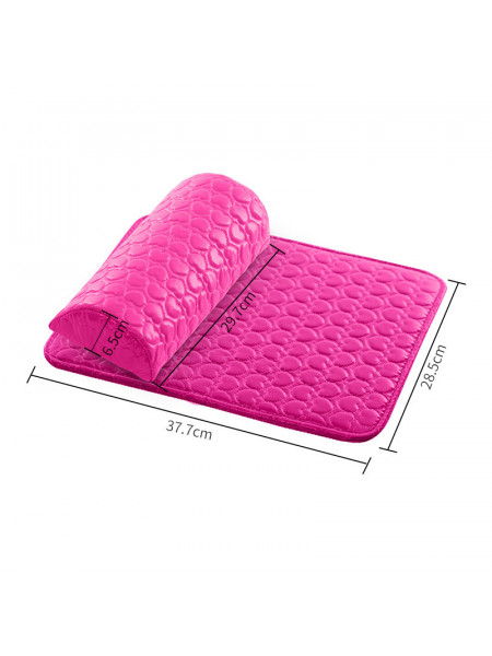 Подлокотник+коврик для маникюра розовый