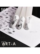 3D наклейки для дизайна ногтей 565