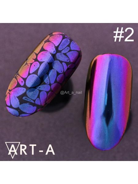 """Пигмент для дизайна ногтей """"Мятный жук"""" №2"""