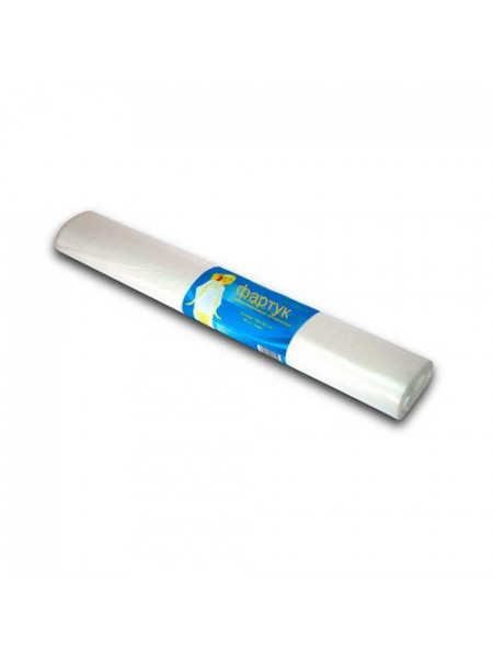 Фартук п/э 80*120 прозрачный White line 50шт. рулон