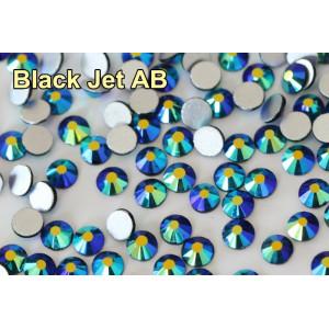 Стразы для ногтей AB (ГОЛОГРАФИК) Jet black ss6. Упаковка 1440 шт.