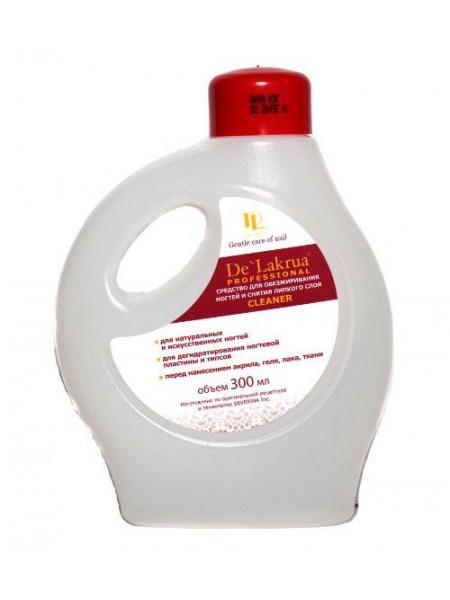 De Lakrua Cleaner (средство для обезжиривания ногтей и снятия липкого слоя) 300 мл